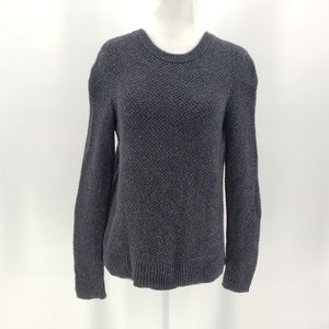 Madewell gray knit button back side sweater XS
